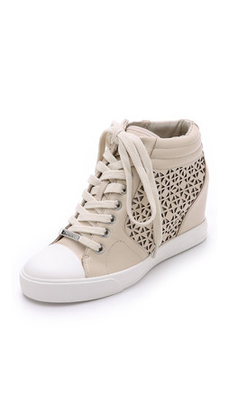 Dkny Cindy Wedge Sneakers - Sand