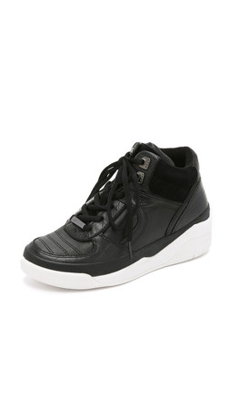 Dkny Connie High Top Sneakers - Black