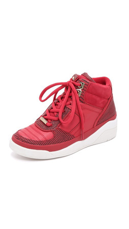Dkny Connie High Top Sneakers - Red