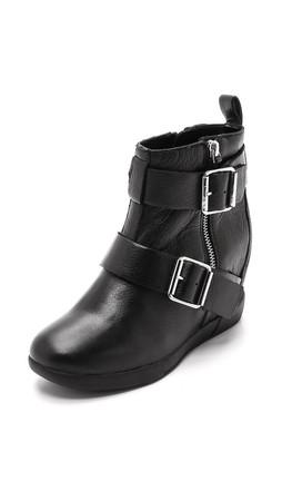Dkny Hanna Wedge Booties - Black