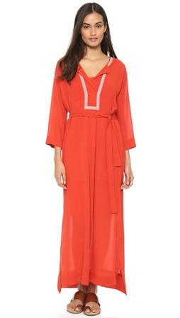 Dkny Maxi Caftan Dress - Tamarind/Dune