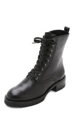Dkny Melissa Lace Up Boots - Black