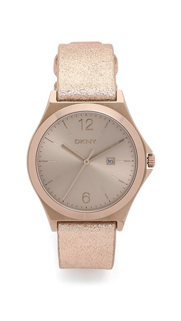 Dkny Parsons Watch - Beige/Gold