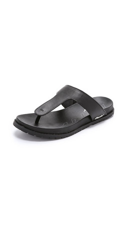 Dkny Shawna Footbed Thong Sandals - Black