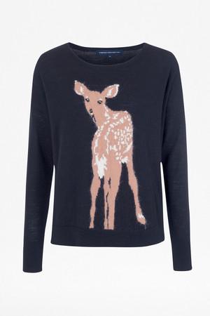 Doe Deer Jumper - Utility Blue