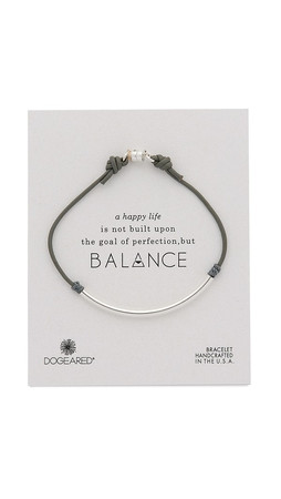 Dogeared Balance Tube Bracelet - Silver/Pebble