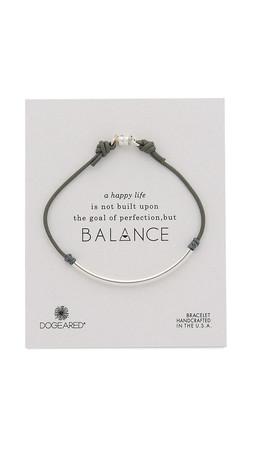 Dogeared Balance Tube Bracelet - Silver/Pebble