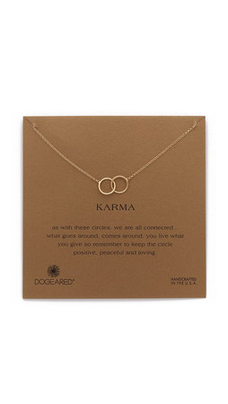 Dogeared Karma Large 2 Linked Necklaces - Gold