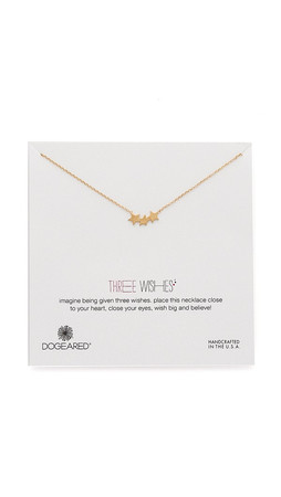 Dogeared Three Wishes Triple Star Necklace - Gold