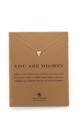 Dogeared You Are Mighty Charm Necklace - Gold