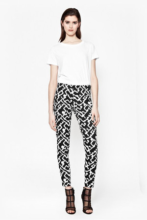 Downtown Grid Printed Trousers - BLACK/SUMMER WHITE