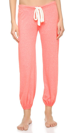 Eberjey Heather Cropped Pant - Pink Glow