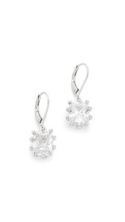 Eddie Borgo Estate Drop Earrings - Silver/Clear