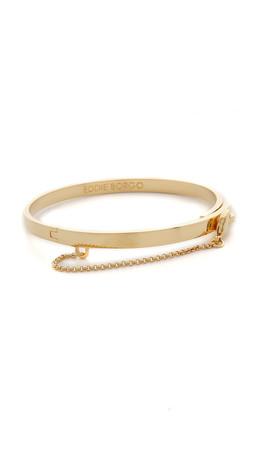 Eddie Borgo Extra Thin Safety Chain Bracelet - Gold