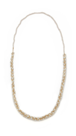 Eddie Borgo Orbit Necklace With Freshwater Cultured Pearls - Gold