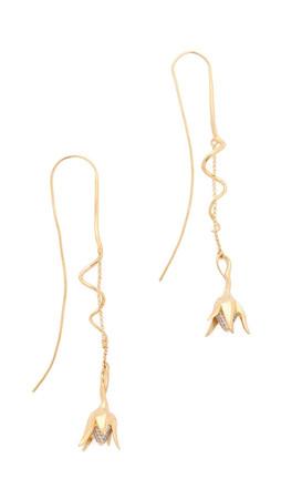 Eddie Borgo Pave Bud Drop Earrings - Gold