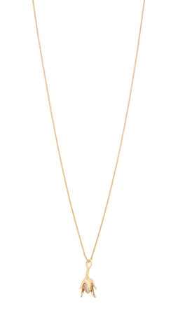 Eddie Borgo Pave Bud Pendant Necklace - Gold