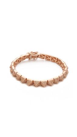 Eddie Borgo Pave Small Pyramid Bracelet - Rose Gold