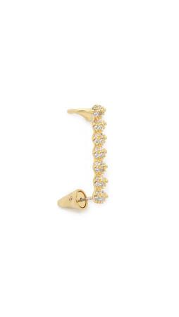 Eddie Borgo Pave Tiny Cone Right Ear Cuff - Gold