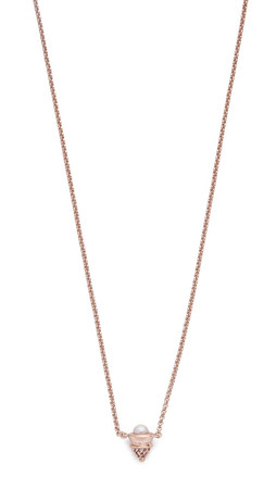 Eddie Borgo Pave & Freshwater Cultured Pearl Cone Necklace - Rose Gold