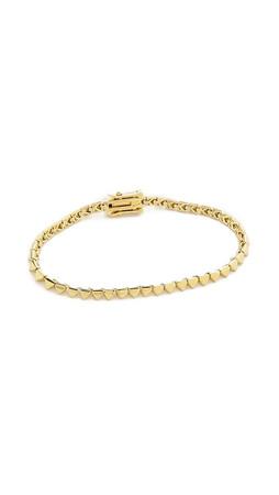 Eddie Borgo Pyramid Tennis Bracelet - Gold