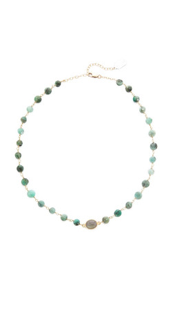 Ela Rae Libi Necklace - Emerald/Labradorite