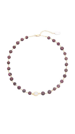 Ela Rae Libi Necklace - Garnet/Moonstone