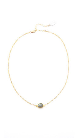 Ela Rae Libi Necklace - Gold/Pyrite