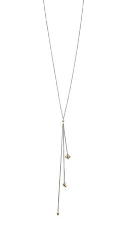 Ela Rae Nelli Necklace - Rhodium/Pyrite