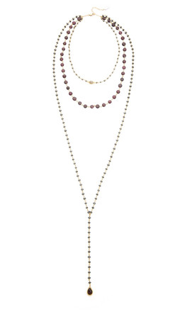 Ela Rae Three In One Necklace - Pyrite/Garnet/Hematite