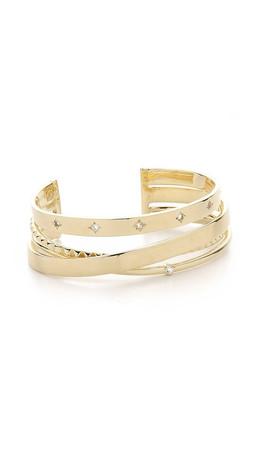 Elizabeth And James Cosmic Cuff Bracelet - Gold/Clear