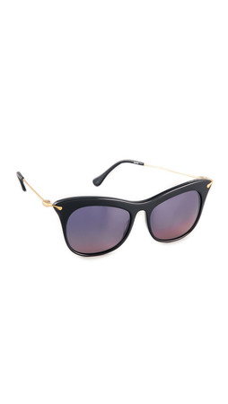 Elizabeth And James Fairfax Sunglasses - Shiny Black
