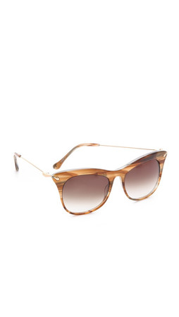 Elizabeth And James Fairfax Sunglasses - Shiny Brown Blue Ink/Gold