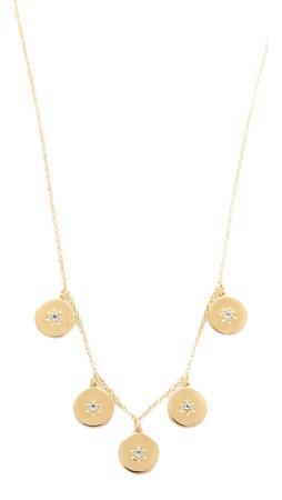 Elizabeth And James Polaris Necklace - Gold/Clear