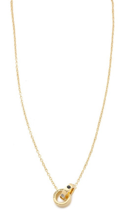 Elizabeth And James Tonto Necklace - Gold/Black/Clear