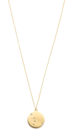 Elizabeth And James Vega Pendant Necklace - Gold/Clear