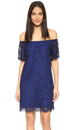 Ella Moss Stella Off Shoulder Dress - Sapphire