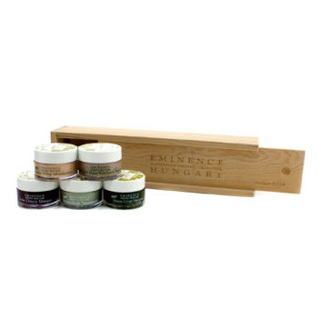 Eminence Starter Set (Oily Skin): Rosehip Moisturizer + Rosehip Masque + Sour Cherry Masque + Stone Crop Masque + Seven Herb Treatment 5pcs