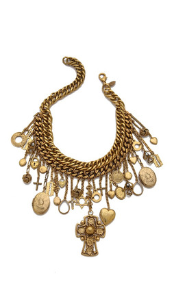 Erickson Beamon Chain Charm Necklace - Gold