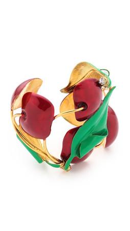 Erickson Beamon Cherry Pie Cuff Bracelet - Cherry Multi