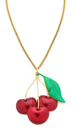 Erickson Beamon Cherry Pie Necklace - Cherry Multi