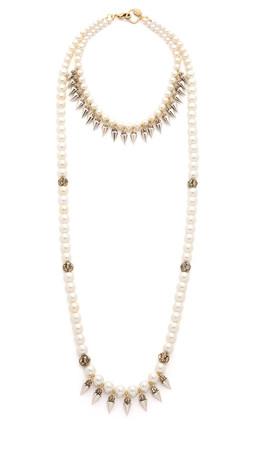 Erickson Beamon Debutante Punk Necklace - Pearl Multi