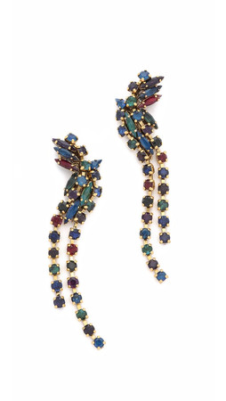 Erickson Beamon Hyperdrive Cascading Earrings - Jewel Multi