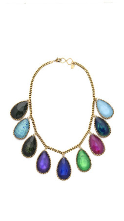 Erickson Beamon Hyperdrive Teardrop Necklace - Jewel Multi