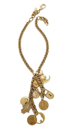 Erickson Beamon My Beloved Charm & Chain Necklace - Gold