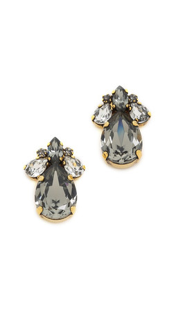 Erickson Beamon Young & Innocent Earrings - Black/Clear