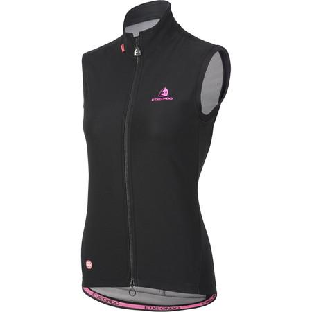 Etxeondo Women's Team Edition Rain Vest - Large Black/Pink