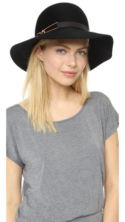 Eugenia Kim Blake Hat - Black/Rose