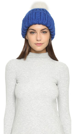 Eugenia Kim Rain Hat - Cobalt/Cream