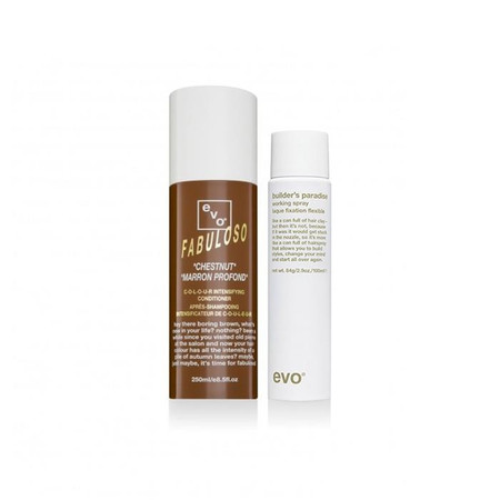 Evo Fabuloso Chestnut Conditioner 250ml with BONUS Builder's Paradise Working Spray 100ml